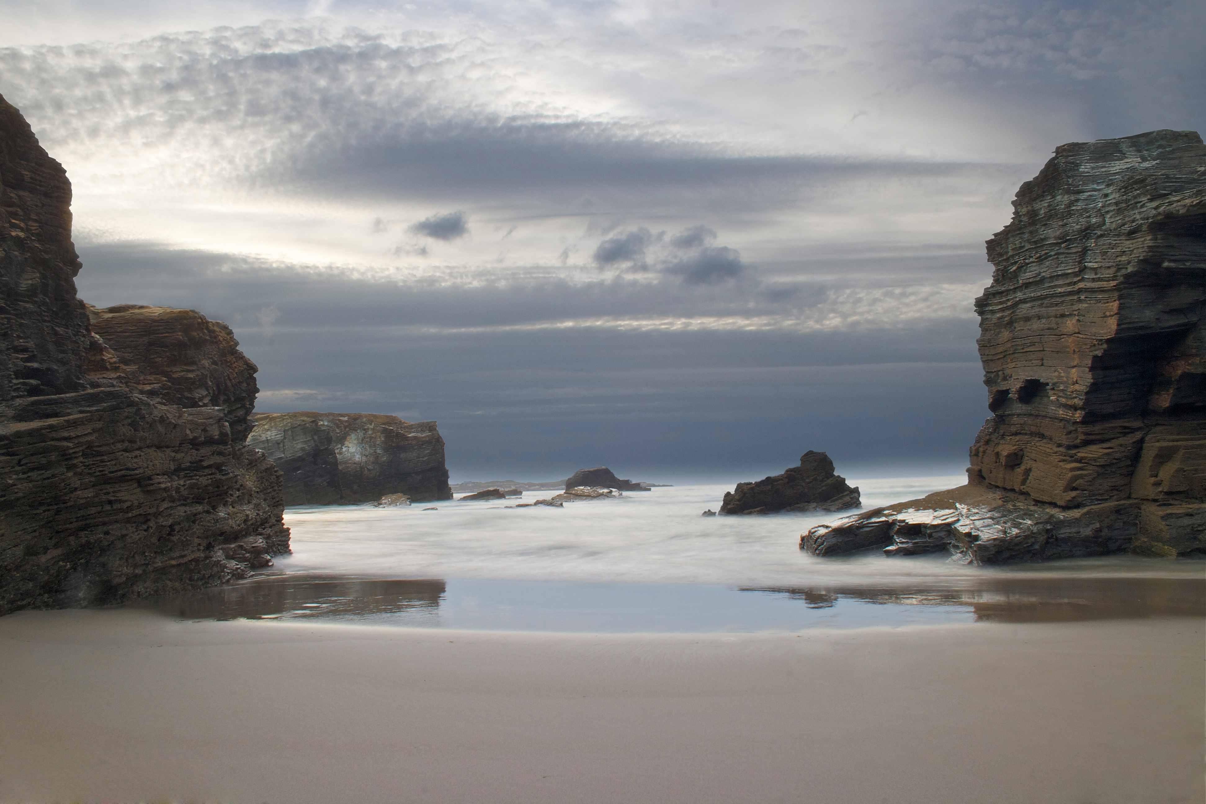 Fotografía de paisaje, playa de las catedrales, atardecer entre las rocas, Canon.,Danilatorre,danilatorre, Dani Latorre, daniel Latorre