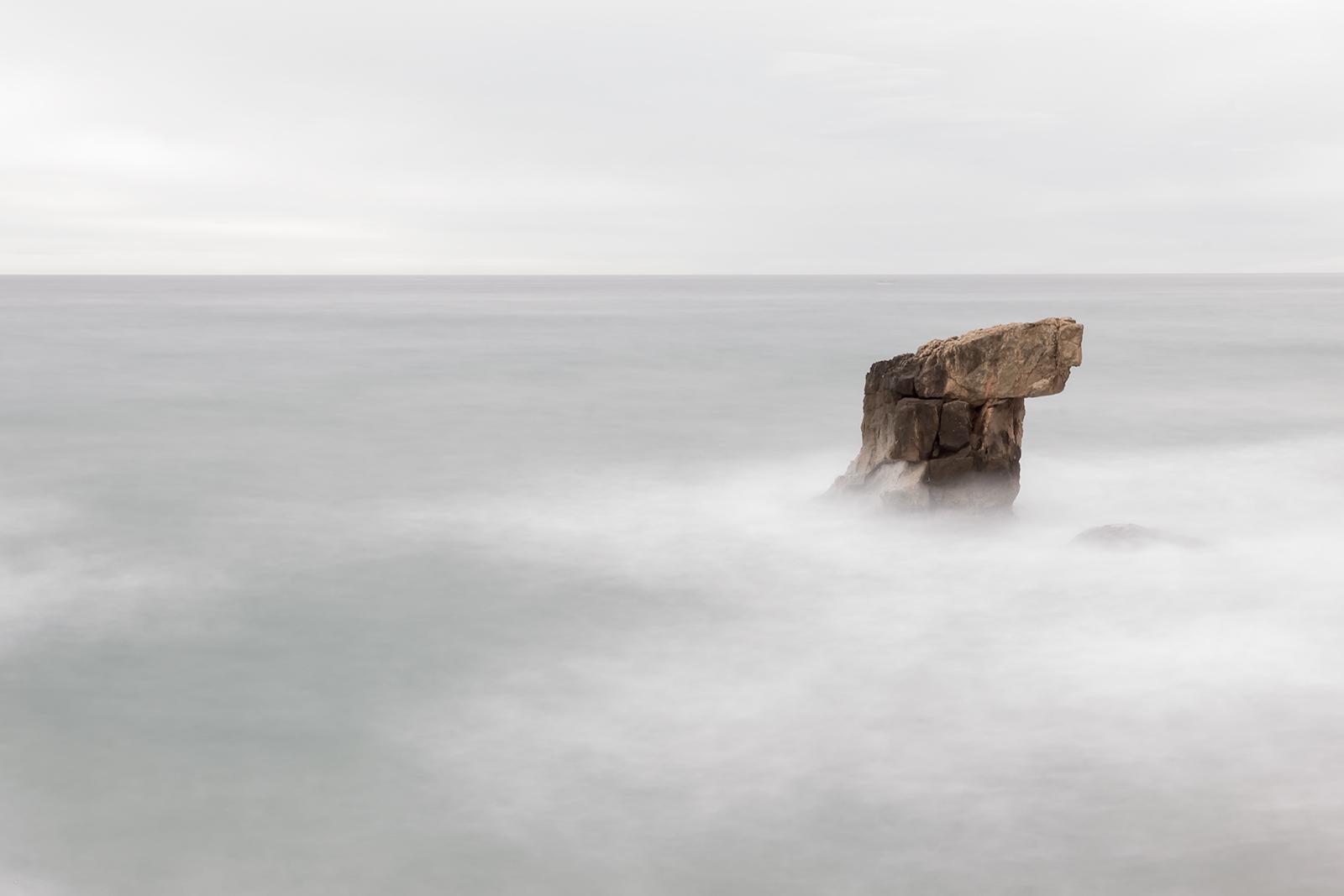 Paisaje costa de Tarragona, Canon 6D, Filtro ND, larga exposición