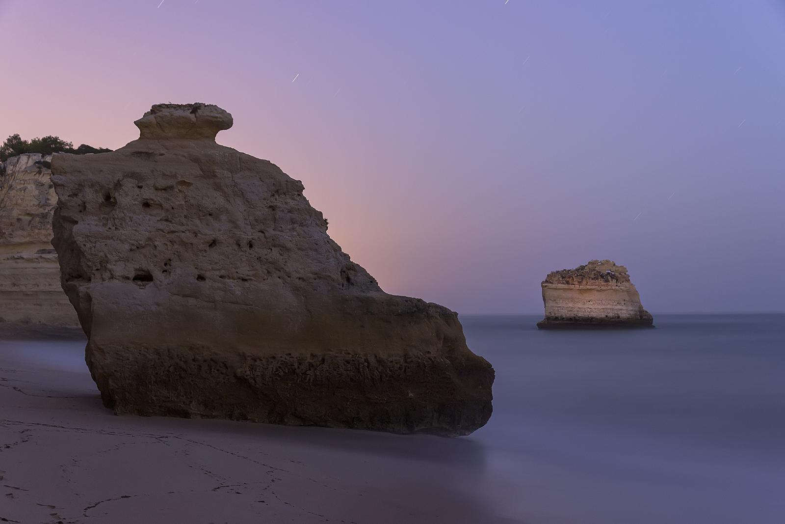 Paisaje nocturno Portugal playa Marinha noche, Larga exposición, Canon 6D, Algarve,Danilatorre,danilatorre, Dani Latorre, daniel Latorre