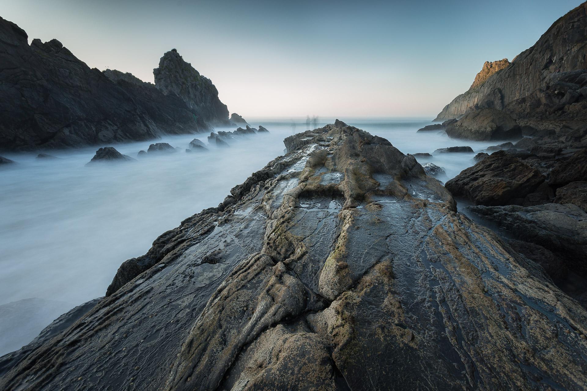 Fotografía de paisaje en Playa de Laga, larga exposición al atardecer con Canon 6D,Danilatorre,danilatorre, Dani Latorre, daniel Latorre