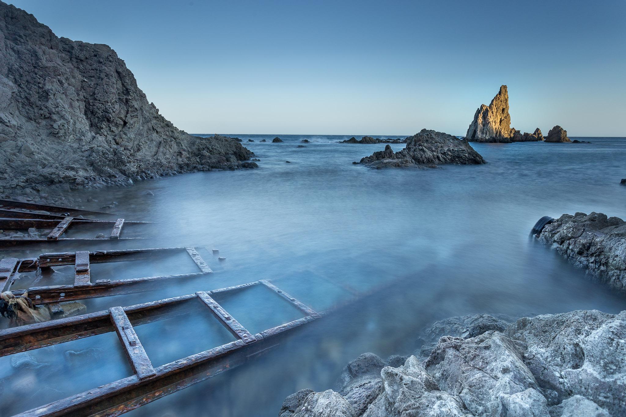 Paisaje en el Arrecife de las Sirenas, Almeria , atardecer, larga exposición con Canon 6D y filtro ND,Danilatorre,danilatorre, Dani Latorre, daniel Latorre