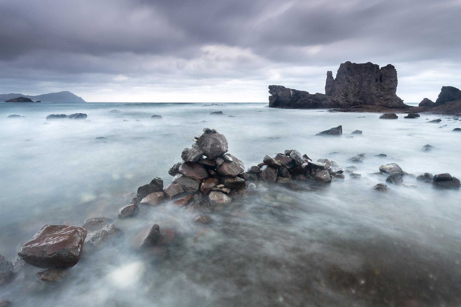 Paisaje Los Escullos, Almeria, roca del Submarino, larga exposición, canon 6D,Danilatorre,danilatorre, Dani Latorre, daniel Latorre